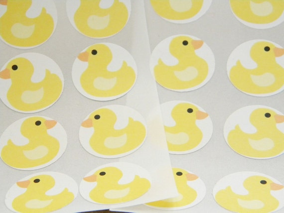 Rubber Duck Party Favor Stickers Seals Set of 24