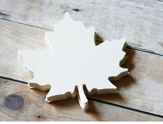 Large Maple Leaves Blank Tags Party Favors Escort Cards Placecard Tags 100 assorted Leaves for Laura
