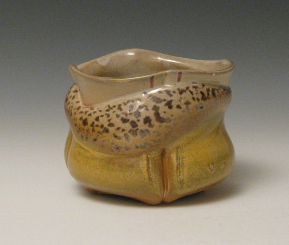 yellow and earth toned cup