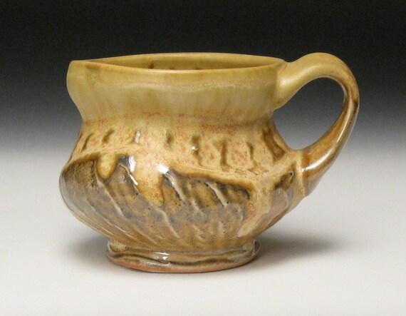 crystally yellow shino mug
