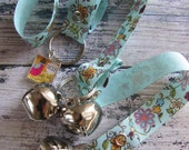 Doggy House Training Bells- Blue Floral