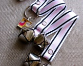 Doggy House Training Bells-Pink Stripes