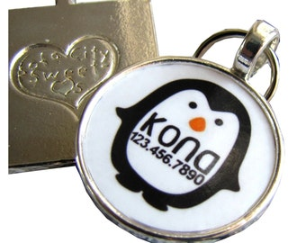 Penguin Custom Silver Pet ID Tag