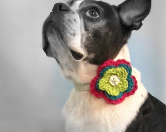 Triple Flower Crochet Collar Attachment- MORE COLORS