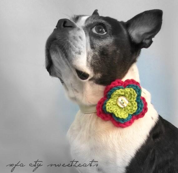 Triple Flower Crochet Collar Attachment- MORE COLORS