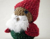 Red and Green Jingle Gnome with Silver