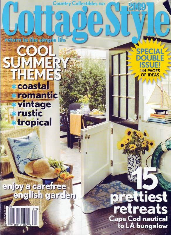 Country collectibles 49 cottage style 2009 magazine for Country cottage magazine