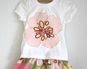Best Seller Alexander Henry Everyday Twirly Skirt and Applique Tee Set