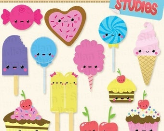 Kawaii Sweets Clip Art Collection (For Commercial Use) - Instant Download