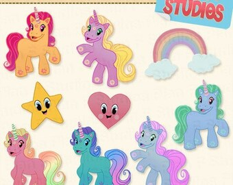 Magical Unicorns Clip Art Collection (for Commercial Use) - Instant Download
