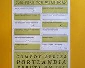 Portland Card 2011 Year You Were Born