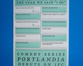 Portland Wedding 'I Do' Letterpress Card