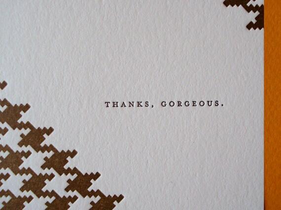 Thank You Card - Thanks, Gorgeous