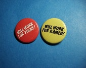 Craving Pocky and Ramen Pinback Button Set
