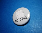 Photoshop Curves Pinback Button (or Magnet)