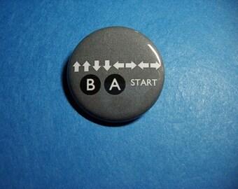 Konami Code Pinback Button (or Magnet)