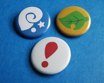 Animal Crossing Pinback Button Set (or Magnets)