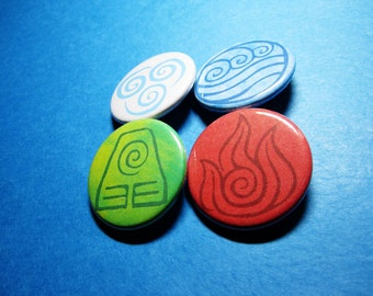 The Four Nations Pinback Buttons (or Magnets)