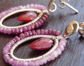 Claret Ruby Earrings