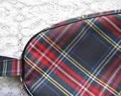 Darling Vintage Plaid Shoe Case Bag