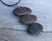 Beach Pebble necklace - the beauty of simplicity shown by NaturesArtMelbourne