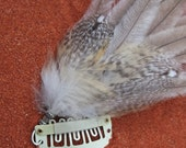 Hair extension Emu & Owl feathers - removable with secure clip.  natural  eco friendly handmade with love
