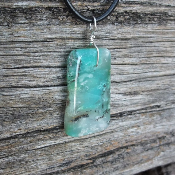 Chrysoprase necklace, handcrafted jewelry from Australia