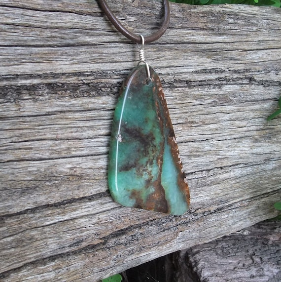 Chrysoprase necklace  -  big, bold, beautiful  - real  Australian