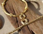 """Toggle clasp, gold plated  - Extra large  - 35/64 mm (1.4/2.5""""), 1 set"""