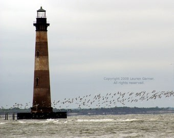 Morris Island Lighthouse - Charleston Photography Nautical Beach Folly South Carolina SC Fine Art Lustre Print - 8x10 Photograph