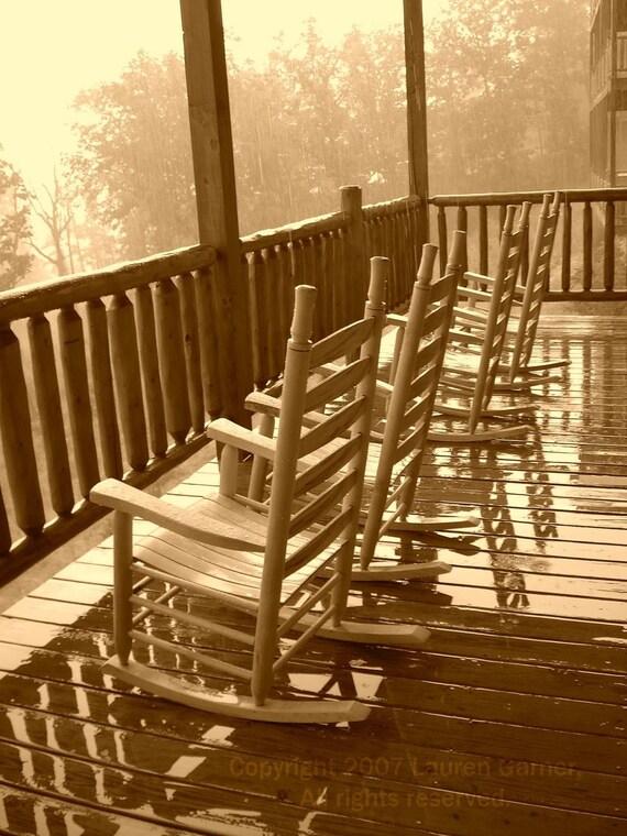 Rocking Mountains Chairs Porch Mountains Cabin By Flashforward