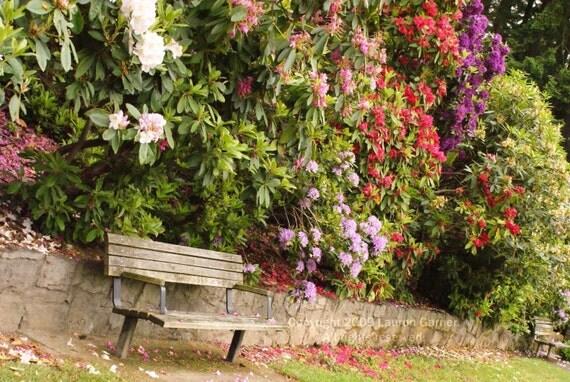 Items similar to garden bench flowers portland oregon for Oregon craft floral