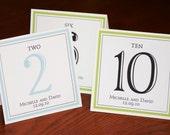 Table Numbers for Wedding or Event - Simple and Elegant Table Numbers Tented Table Numbers - set of 10