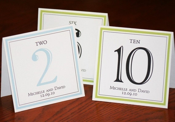 Table Numbers for Wedding or Event - elegant - Reserved for hopriscilla