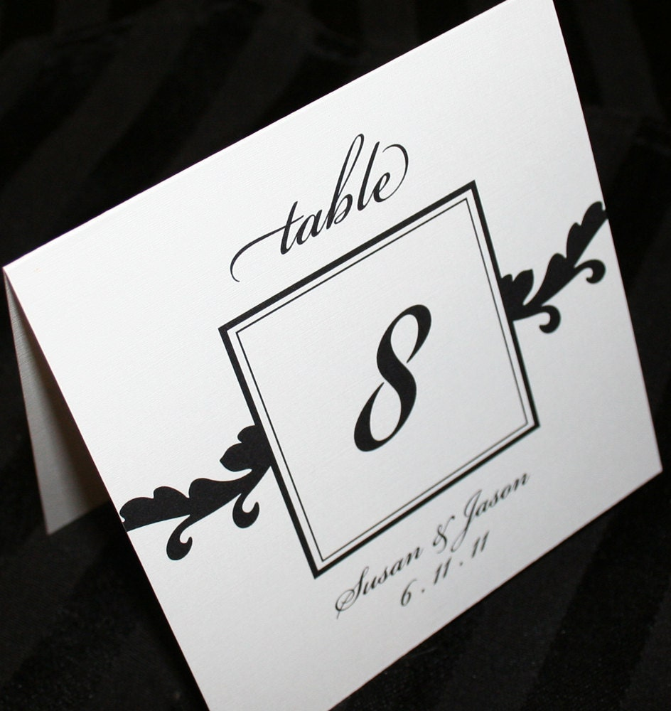 Table numbers for wedding or event script table numbers for Table numbers