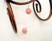 Earrings in Peach