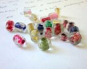 Destash - Glitter and Colorful Murano Stones 21 pieces