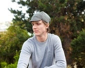 Houndstooh Wool Cycling Cap -sizes sm and lg