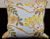 16 inch throw pillows, Vintage Swedish Fabric