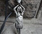 Pewter Karen Cooper Zombie Girl Living Dead Pendant
