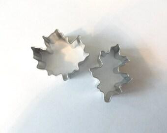 MINI Leaf Cookie Cutters set/2