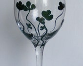 Shamrock Wine Glass