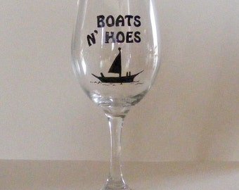 Boats N Hoes Step Brothers Wine Glass
