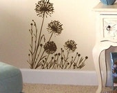 Dandelion Meadow floral vinyl wall decal stickers graphic