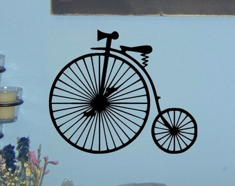 Beep Beep - Classic Antique Vintage Bicycle wall decal graphic art