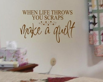 Make A Quilt - craft saying vinyl wall decal lettering