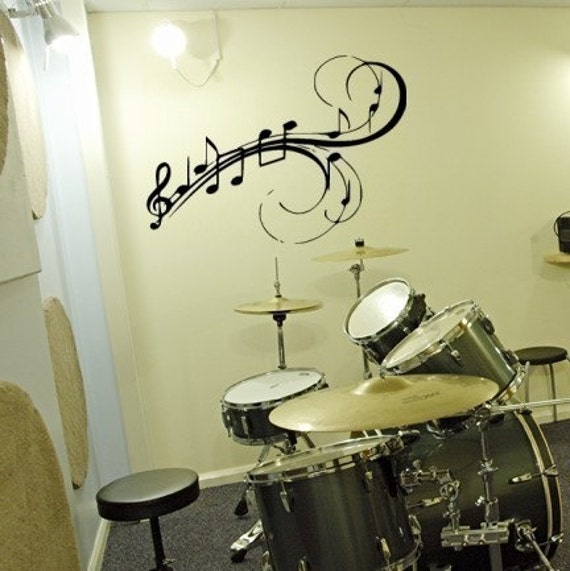 items similar to music to my walls musical notes vinyl. Black Bedroom Furniture Sets. Home Design Ideas