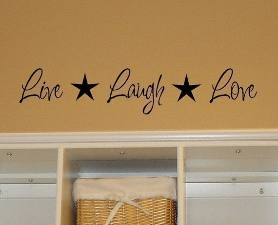 Live Laugh Love Vinyl Wall Decal With Stars