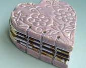 Lilac Lace Heart Book