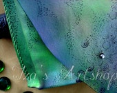 Green Reptile Fantasy Leather Pouch